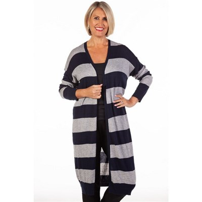 Fizz Striped Edge to Edge Knitted Cardigan
