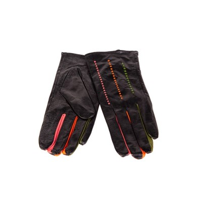 Fizz Leather Gloves with Coloured Fingers Large