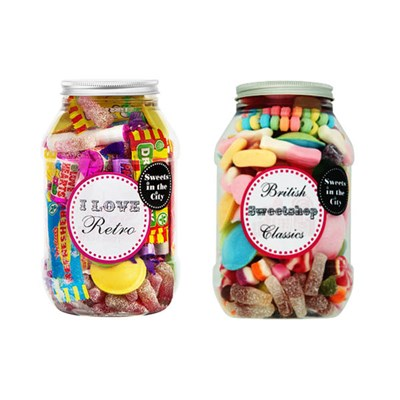 Sweets in the City Jar of Joy Duo I love Retro (Vegan) & British Sweetshop Classics