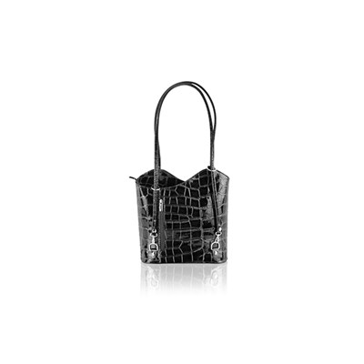 Woodland Leather Shopping Croc Style Bag