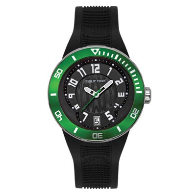 Philip Stein Gent's Classic Rubber Watch with Seiko Movement