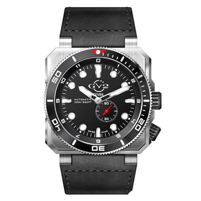 GV2 Gents XO Submarine Swiss Automatic Watch with Genuine Leather Strap