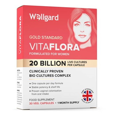 Wellgard Vitaflora Bio Cultures Complex Food Supplement for Women 30 Capsule Pack (30 Days)