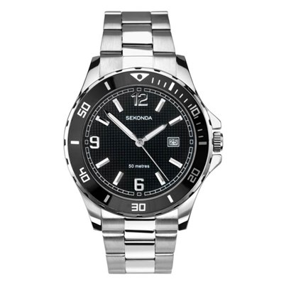 Sekonda Gents Sports Watch with Stainless Steel Bracelet