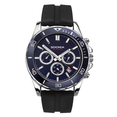 Sekonda Gents Dual Time Sports Watch on Silicone Strap