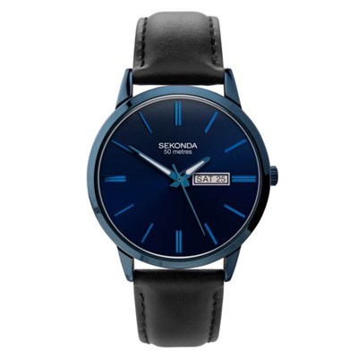 Sekonda Gents Classic Watch on Genuine Leather Strap