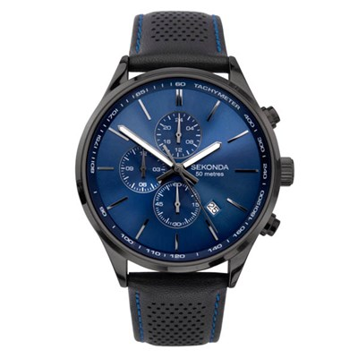 Sekonda Gents Watch with Genuine Leather Strap