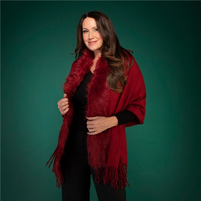 Thomas Calvi Faux Fur Shawl