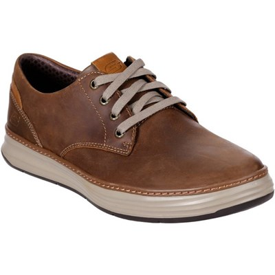Skechers Men's Moreno Gustom Slip On Shoe Chestnut