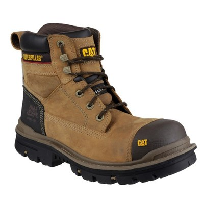 "Caterpillar Men's Gravel 6"" Safety Boot Beige"