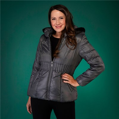 David Barry Padded Jacket with Elastic Waistband