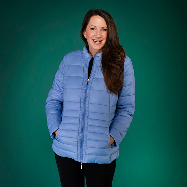 David Barry Lightweight Quilted Jacket Pale Blue