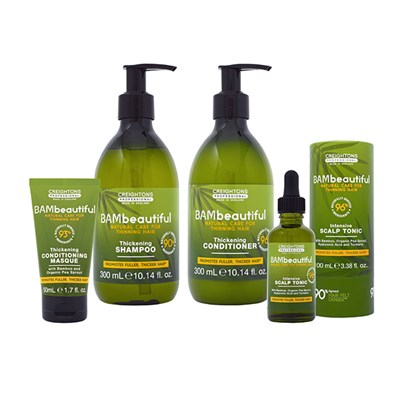 BAMbeautiful Supersize Intensive Scalp Tonic 100ml, Shampoo 300ml, Conditioner 300ml and Masque 50ml