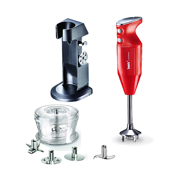 Bamix Deluxe 180W with Stand, 4 Multipurpose Blades and Dry Grinder