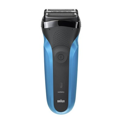 Braun Series 3 310 Wet & Dry Mens Electric Shaver, Black/Blue