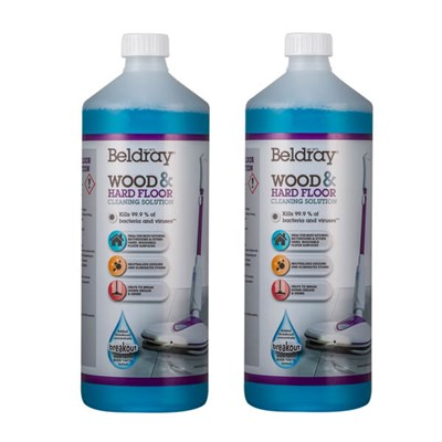 Beldray Wood & Floor Cleaning Solution 2 x 1L Suitable for the Spin Mop