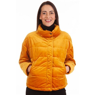 Fizz Mustard Soft Feel Fully Lined Padded Jacket