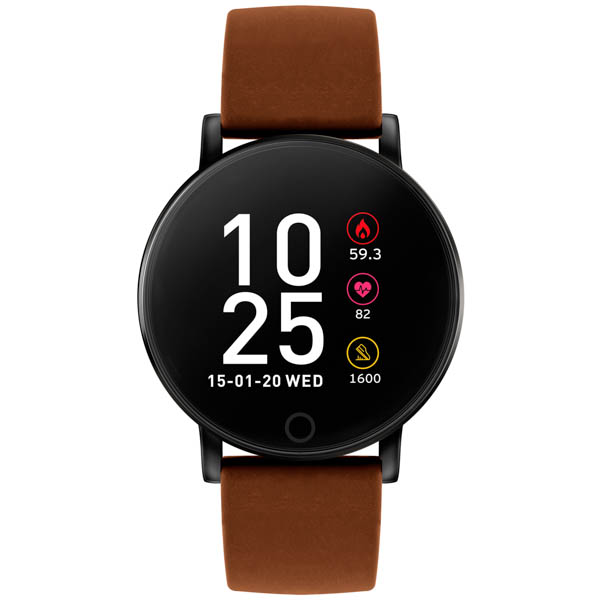 Reflex Active Series 5 - Smart Watch with Pu Leather Strap Brown