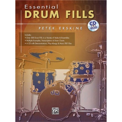 Essential Drum Fills: Book & CD by By composer Peter Erskine