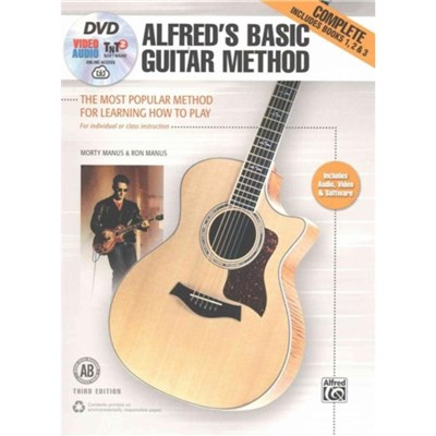 Alfred's Basic Guitar Method; Complete: The Most Popular Method for Learning How to Play; Book; DVD & Online Video/Audio/Software by Morty Manus