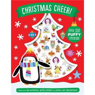 Christmas Cheer Puffy Sticker Book by Illustrated by Lara Ede