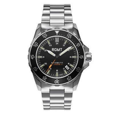 RGMT Gents Everlight Tritium Automatic Watch with Stainless Steel Bracelet & Extra Strap