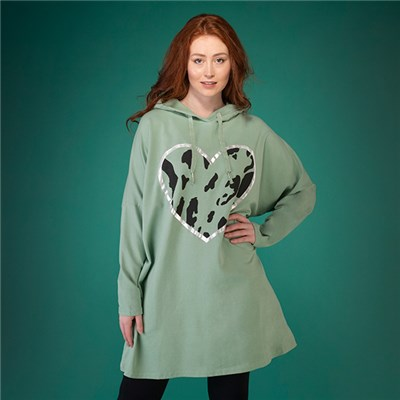Mudflower Hooded Top with Heart Design