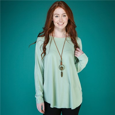 Mudflower Soft Touch Swing Top with Necklace