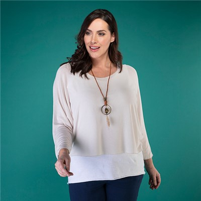 Mudflower 2 Piece Plain Top with Necklace