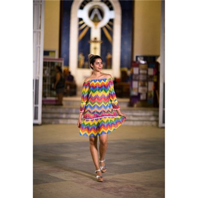 Palmera Beachwear Quetzal Coverup Dress Multicolour