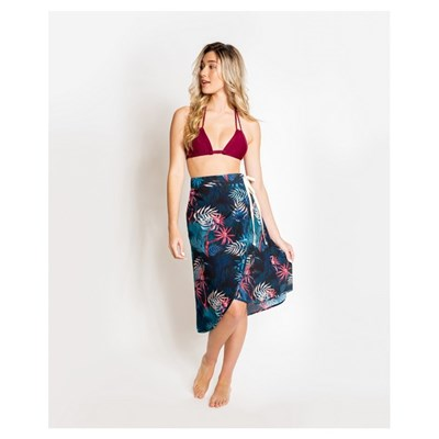 Palmera Beachwear Baja Wrap Skirt Cover Up Navy