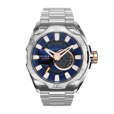 Nubeo Gents Ltd Ed Mariner Automatic Watch with Stainless Steel Bracelet