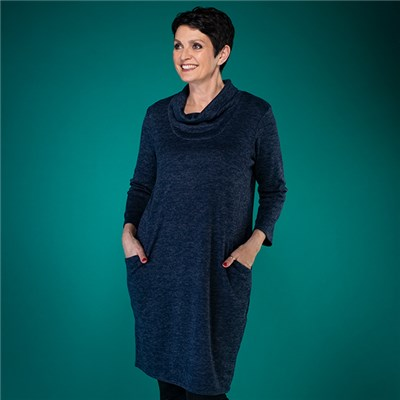 Nicole Brush Cowl Neck Dress