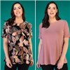 Nicole 2 Pack Print & Plain Half Sleeve Top
