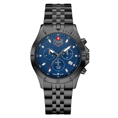 JDM Military Gent's Delta Chronograph Watch with Stainless Steel Bracelet