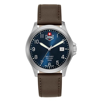 JDW Military Gent's Alpha 1 Watch with Genuine Leather Strap