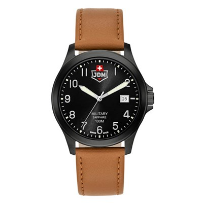 JDW Military Gents Alpha 1 Watch with Genuine Leather Strap