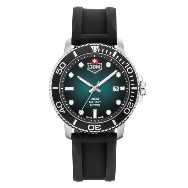 JDM Military Swiss Made Gent's Tango Watch with Silicone Strap Green