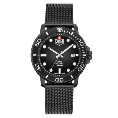 JDM Military Swiss Made Gent's Tango Watch with Milanese Bracelet