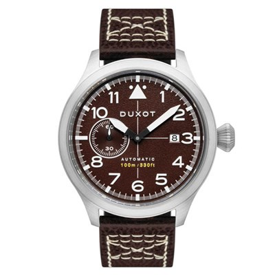 Duxot Gent's Altius Pilot Automatic Watch with Genuine Leather Strap