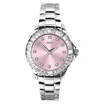 Seksy Ladies Swarovski Crystals Watch with Stainless Steel Bracelet