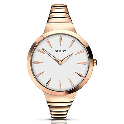 Seksy Ladies Fashion Watch with Stainless Steel Bracelet