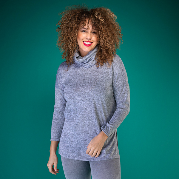Active Bee Tunic with Snood Grey