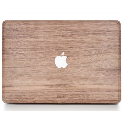 Macbook Cover Skin - Made of Real Wood - Walnut by WoodWe