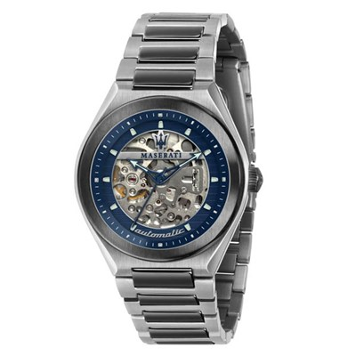 Maserati Gent's Triconic Automatic Watch with Stainless Steel Bracelet