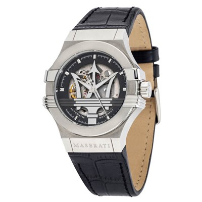 Maserati Gent's Potenza Automatic Watch with Genuine Leather Strap