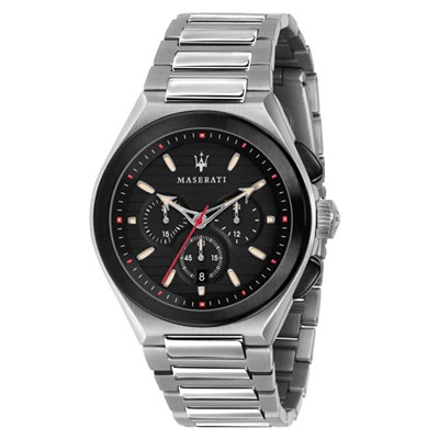 Maserati Gent's Triconic Chronograph Watch with Stainless Steel Bracelet