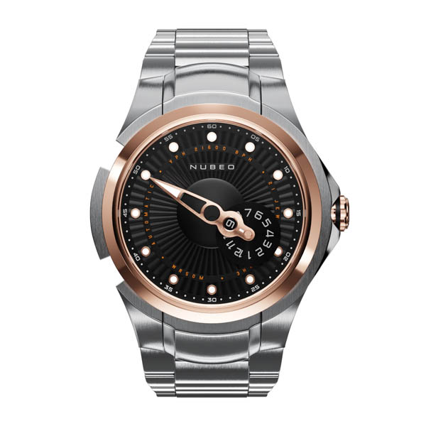 Nubeo Gents Ltd Ed Satellite 2.0 Automatic Watch with Stainless Steel Bracelet Rose Gold