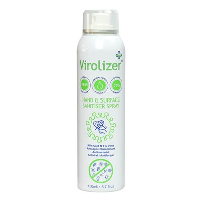 Virolizer Hand and Surface Sanitiser Spray (70% alcohol) 150ml