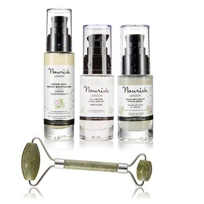 Nourish London Skincare Collection - Moisturiser, Serum, Elixir, Jade Roller